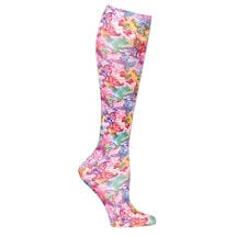 Celeste Stein® Womens Printed Closed Toe Firm Compression Knee High Stockings