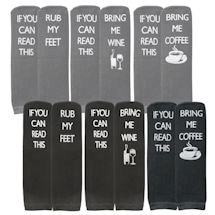 Queen Sized Message Socks - Set of 6 Pairs
