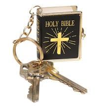 Mini Printed Bible on Keychain