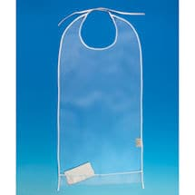 Clear Vinyl Clothing Protector Bib
