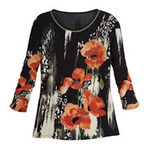 Rising Poppies Top