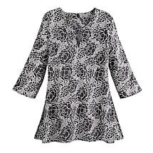 Diana Cabbage Rose Tunic Top