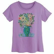Folk Art Flowers Ladies' T-Shirt