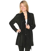 Long Tunic Jacket with attached Scarf