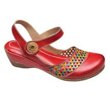 Multi Cutwork Red Clog