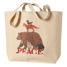 Peace In The Kingdom Canvas Tote