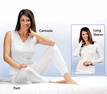Lightweight Thermal Ankle Pants-White