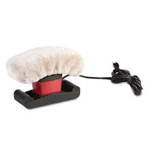 Jeanie Rub Massager Kit with Sheepskin Pad Combo - Variable Speed Electric Vibrating Massager and Washable Cover