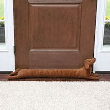 "What On Earth Exclusive Dachshund Dog Draft Dodger - Animal Shaped Weighted Door and Window Breeze Guard - 41.5"" Long"