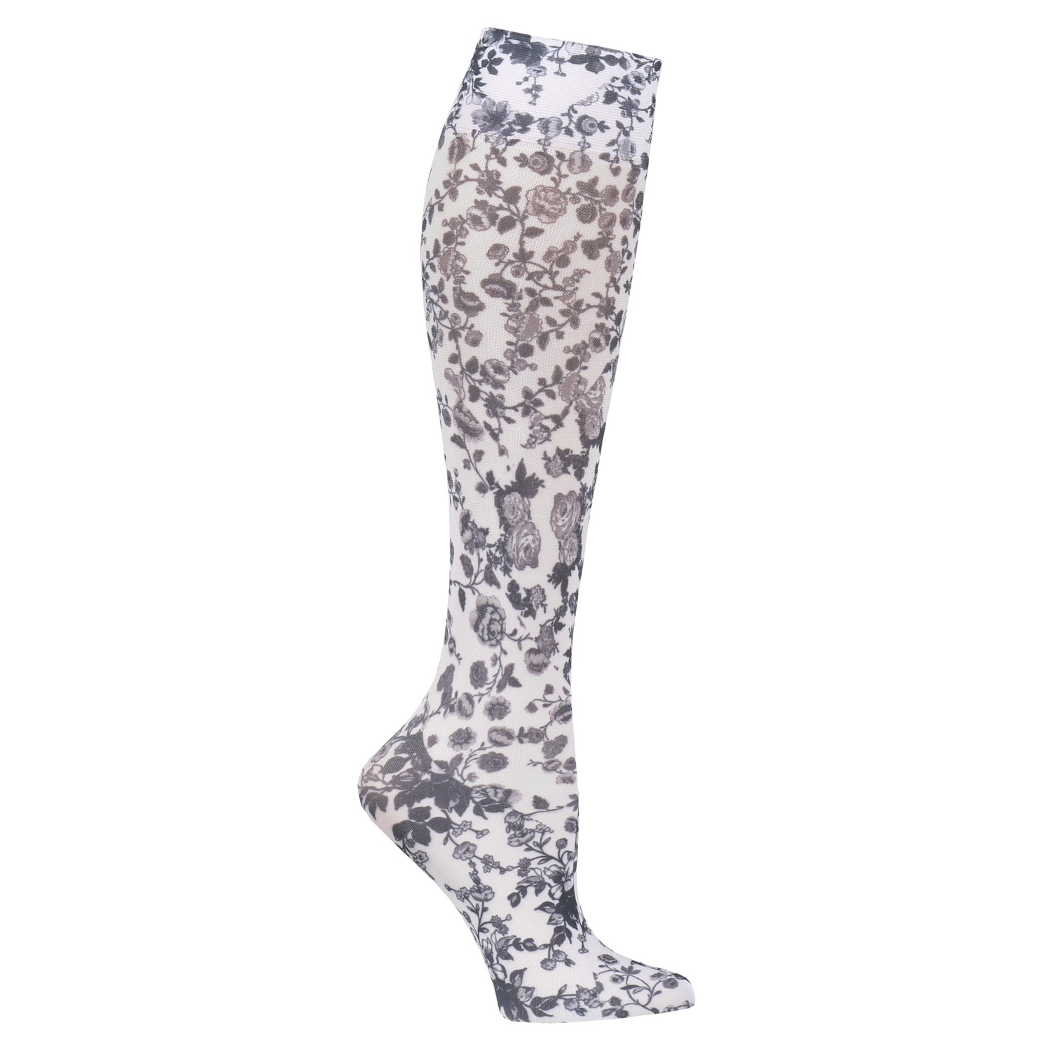 Celeste Stein Women/'s Firm Compression Wide Calf Knee Highs Black Lace