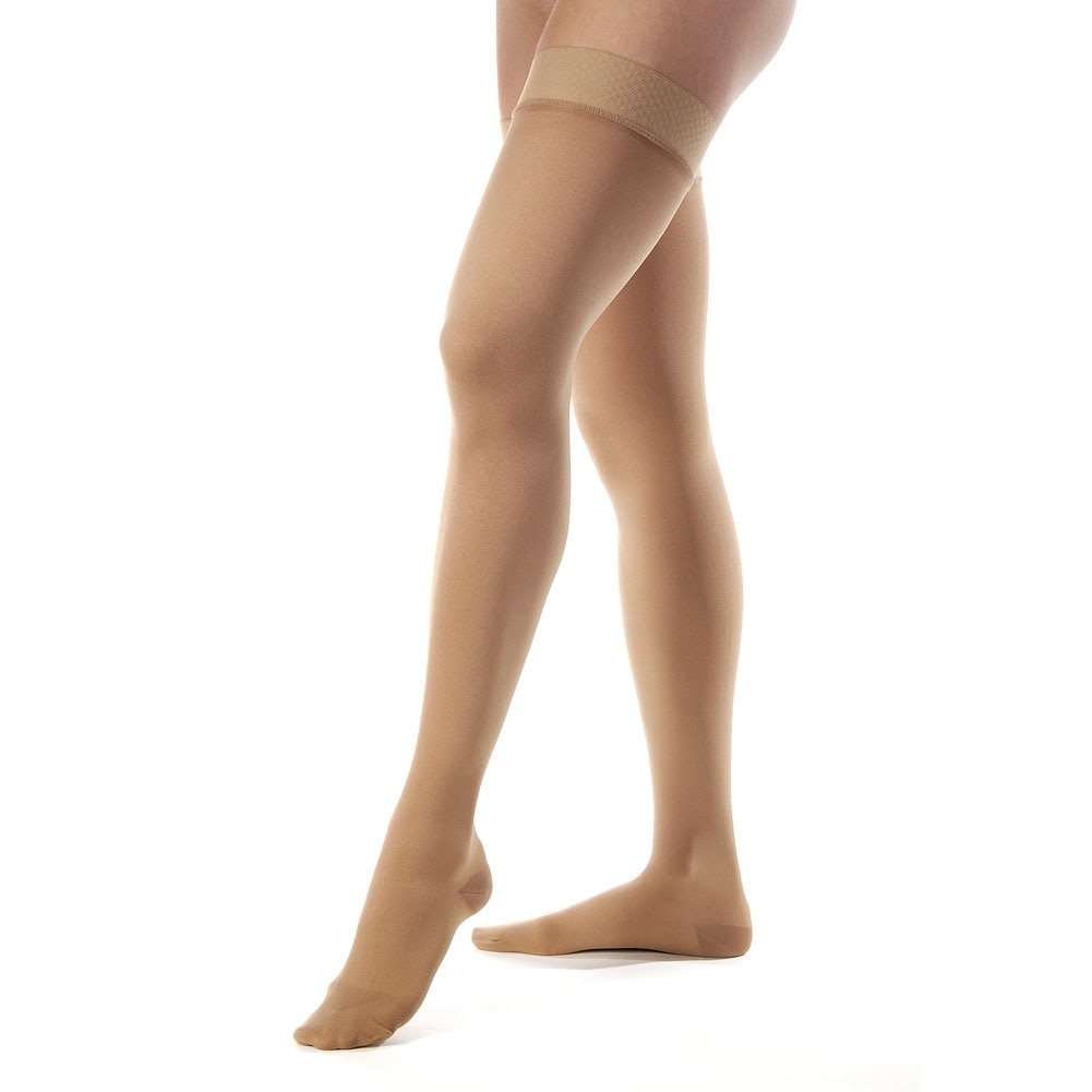 how to put on jobst compression stockings