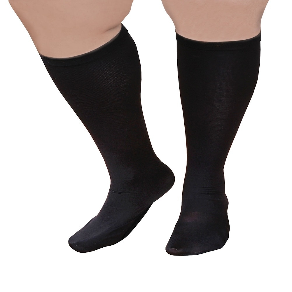 Unisex-Extra-Wide-Moderate-Compression-Knee-High-Socks-Up-to-XW-4E-amp-26-034-Calf thumbnail 8
