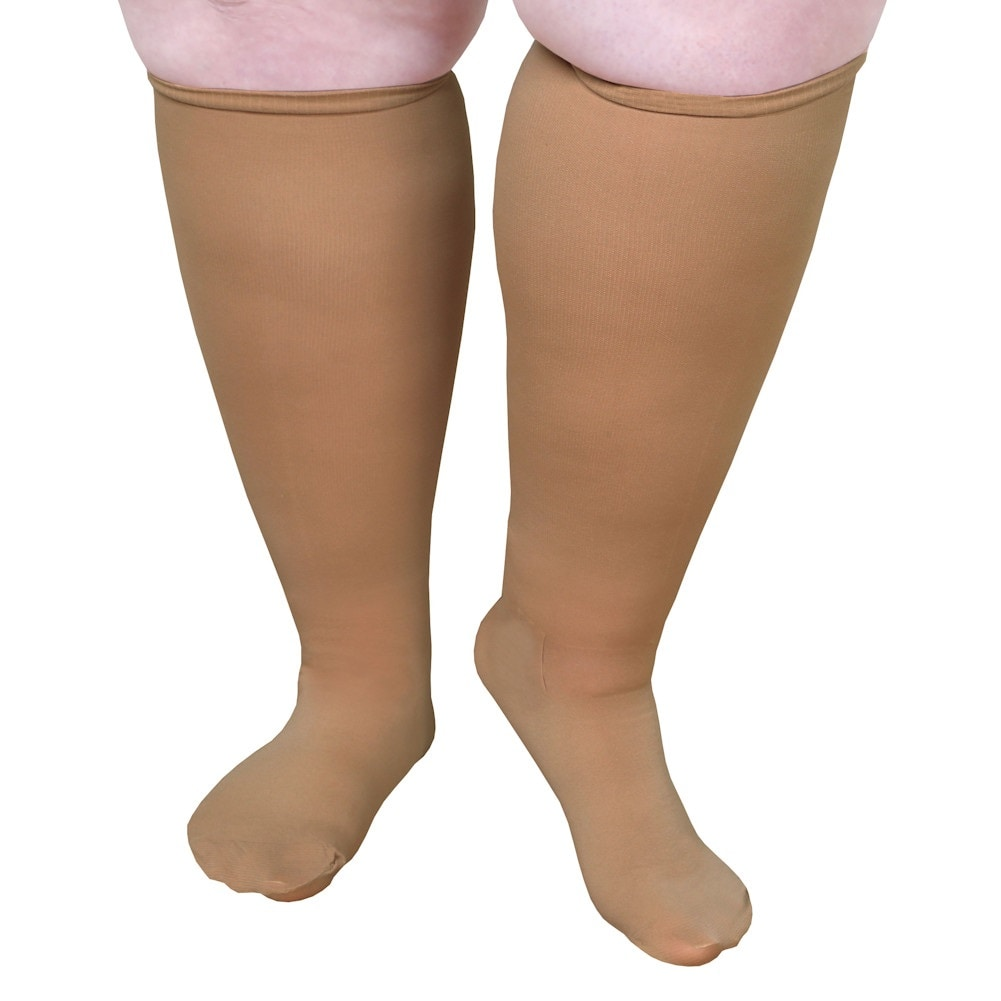 Unisex-Extra-Wide-Moderate-Compression-Knee-High-Socks-Up-to-XW-4E-amp-26-034-Calf thumbnail 11