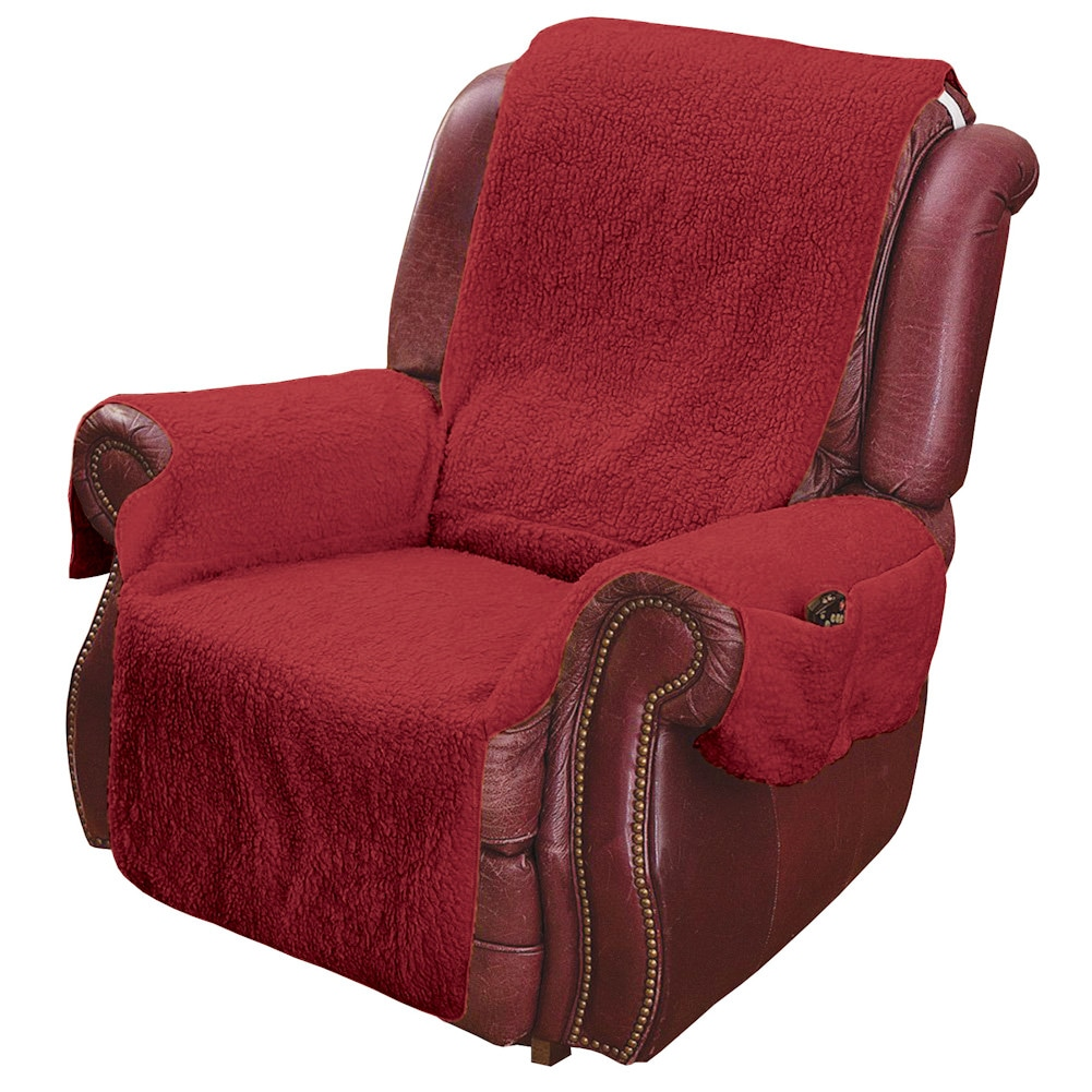 Recliner Chair Cover Protector With Pockets For Remotes