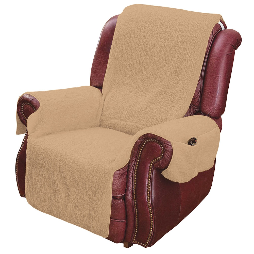 Recliner chair cover protector with pockets for remotes for Furniture covers with pockets