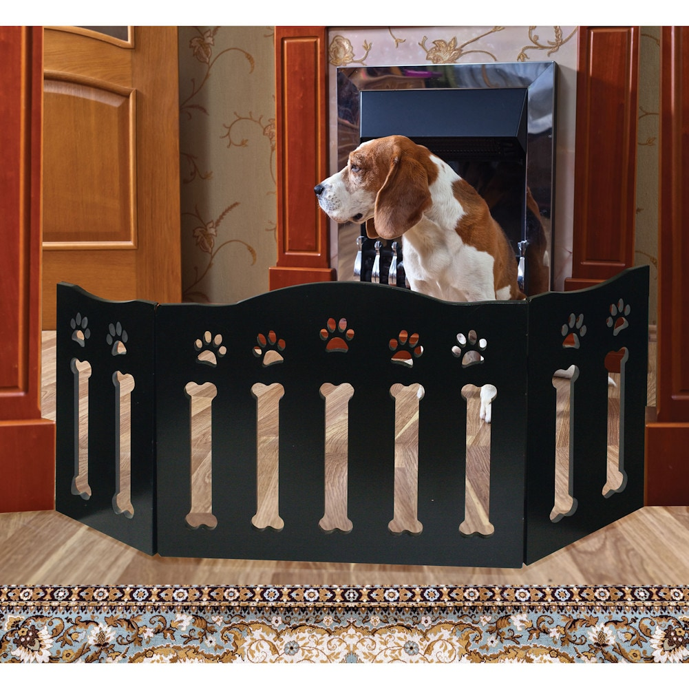 wooden paws and bones pet dog gate free standing tri. Black Bedroom Furniture Sets. Home Design Ideas