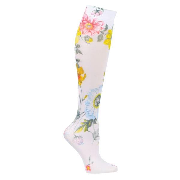 Women S Mild Compression Wide Calf Knee High Support Socks 3 Pair Ebay