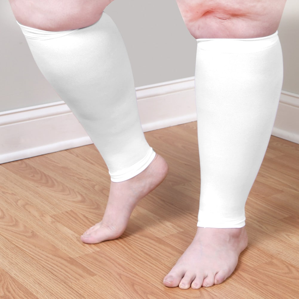 Adult-Extra-Wide-Moderate-Compression-Calf-Sleeves-Regular-Height-over-5-039-7-034 thumbnail 11