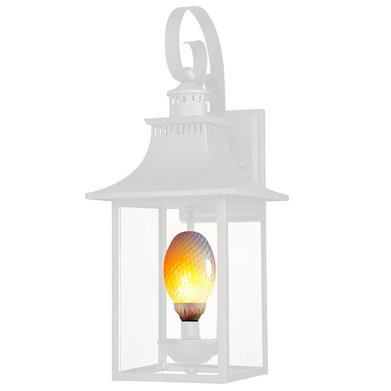 FlameWave Flickering Flame LED Light Bulb-Top Or Bottom