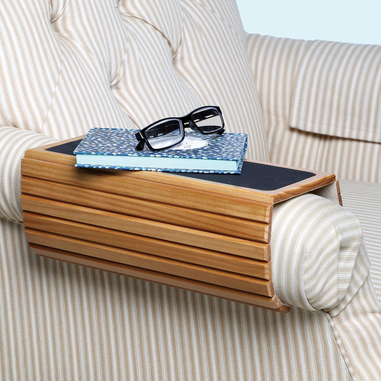 Wood flexi sofa arm rest table honey ebay