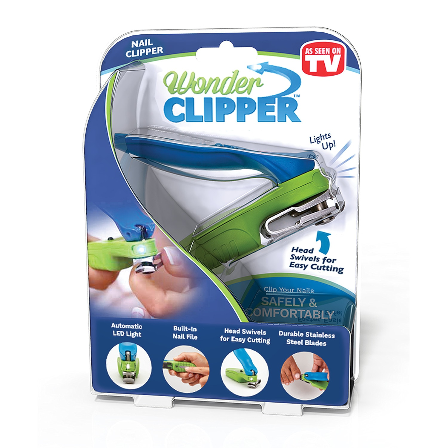 Wonder Clipper Nail Clipper - Swivel Head, LED Lighted, Extra Long ...